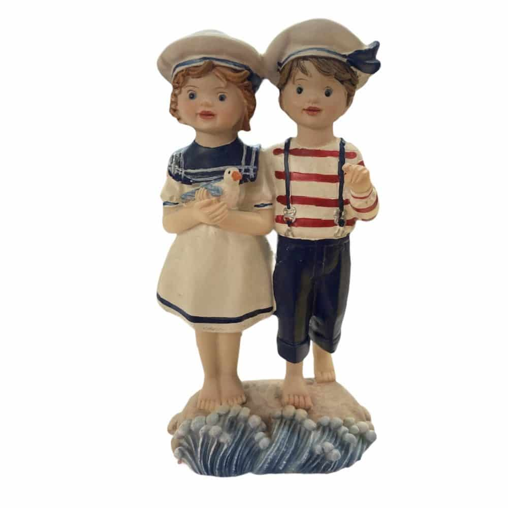Maritime Kinder mit Möwe