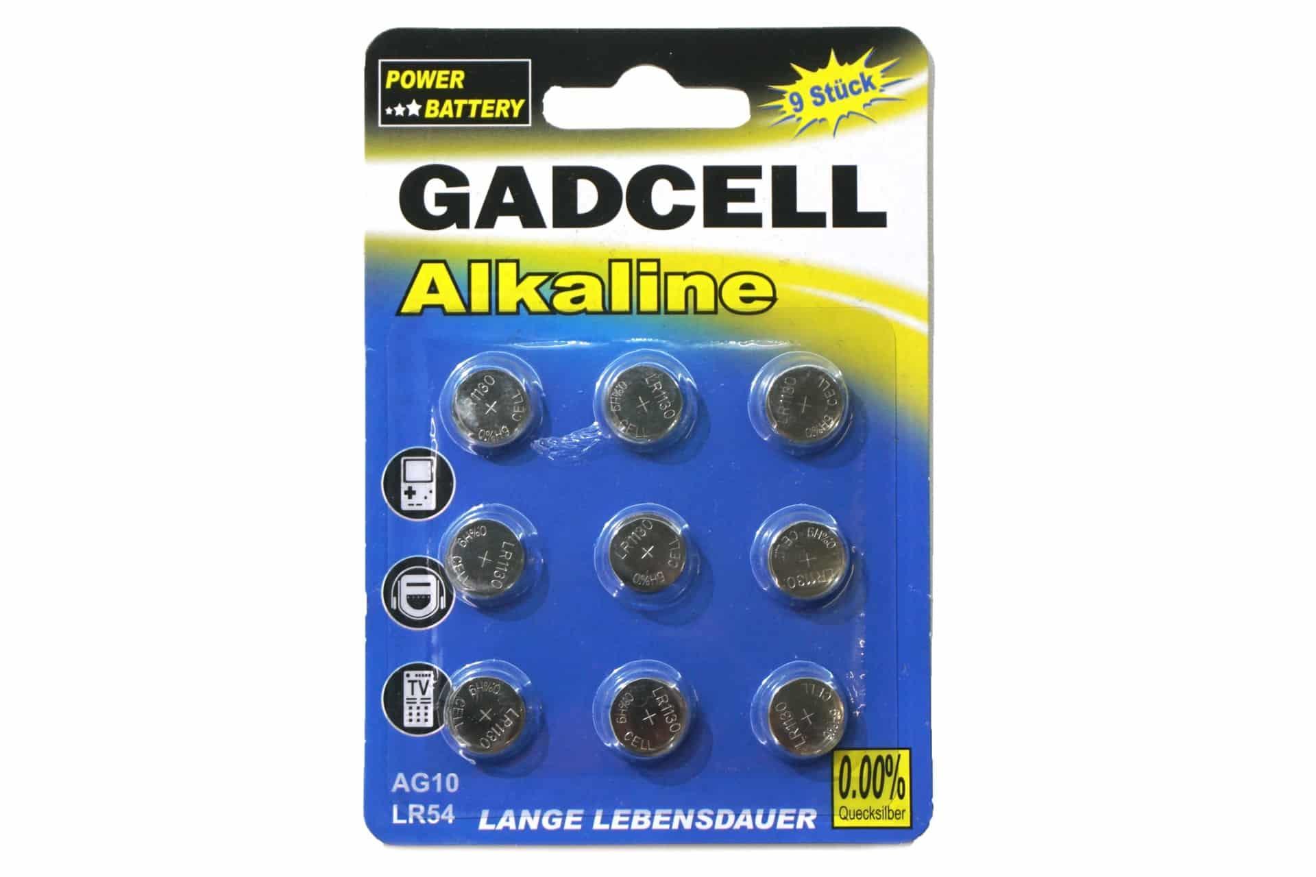 9er-Pack Knopfzelle AG10/LR54