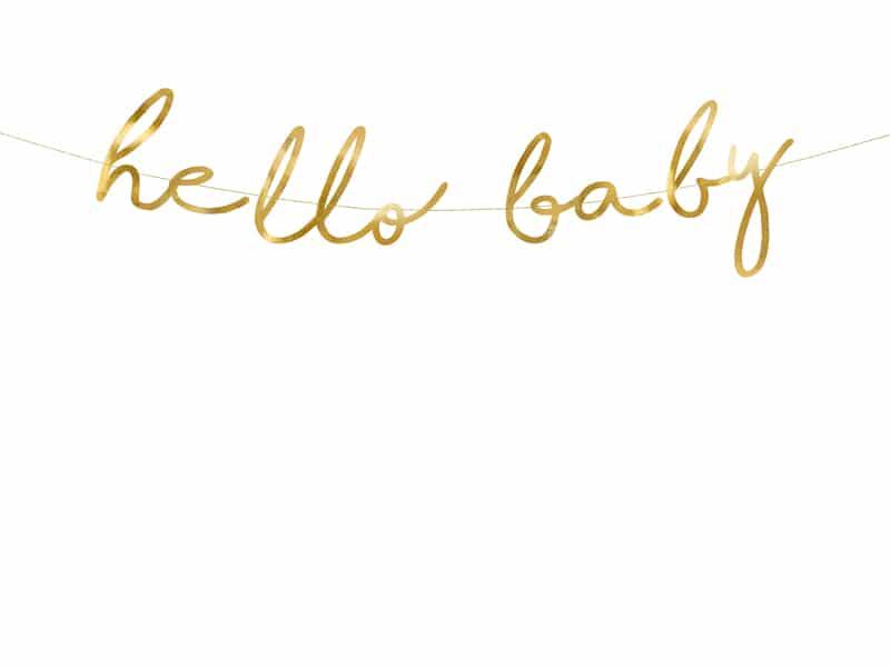 """Girlande """"hello baby"""""""