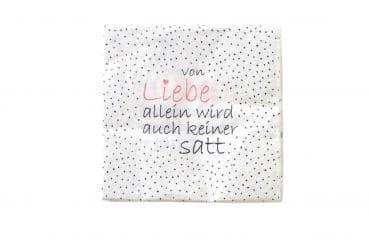 """20er-Pack Servietten """"Von Liebe allein.."""""""