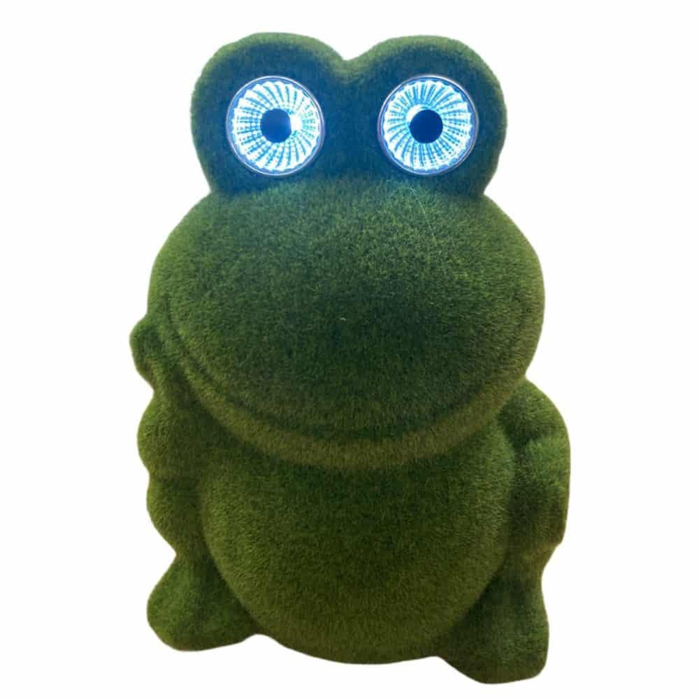 Solar Frosch mit LED-Augen