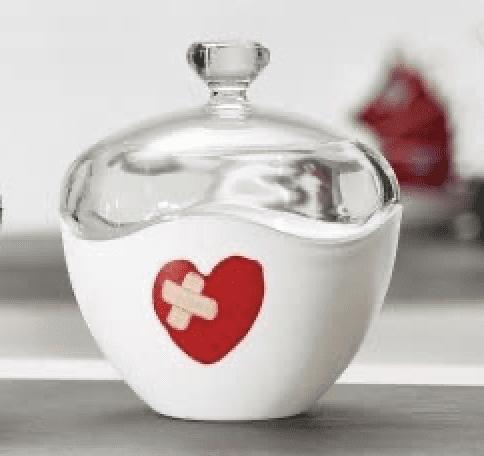 """Glas-Aufbewahrungsdose """"Herz"""""""