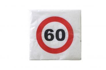 """20er-Pack Servietten Jubiläum """"60"""""""