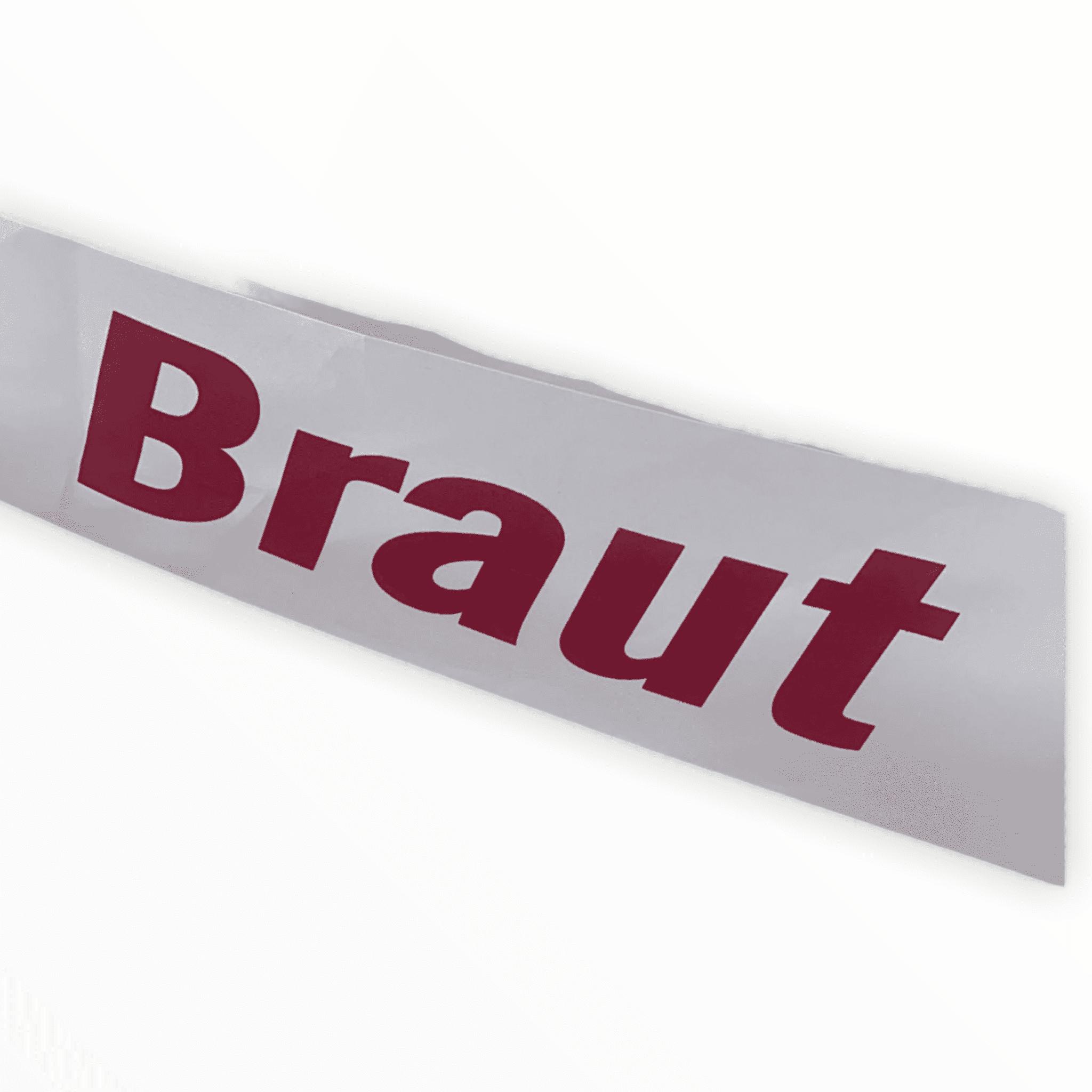 """Schärpe """"Braut"""""""