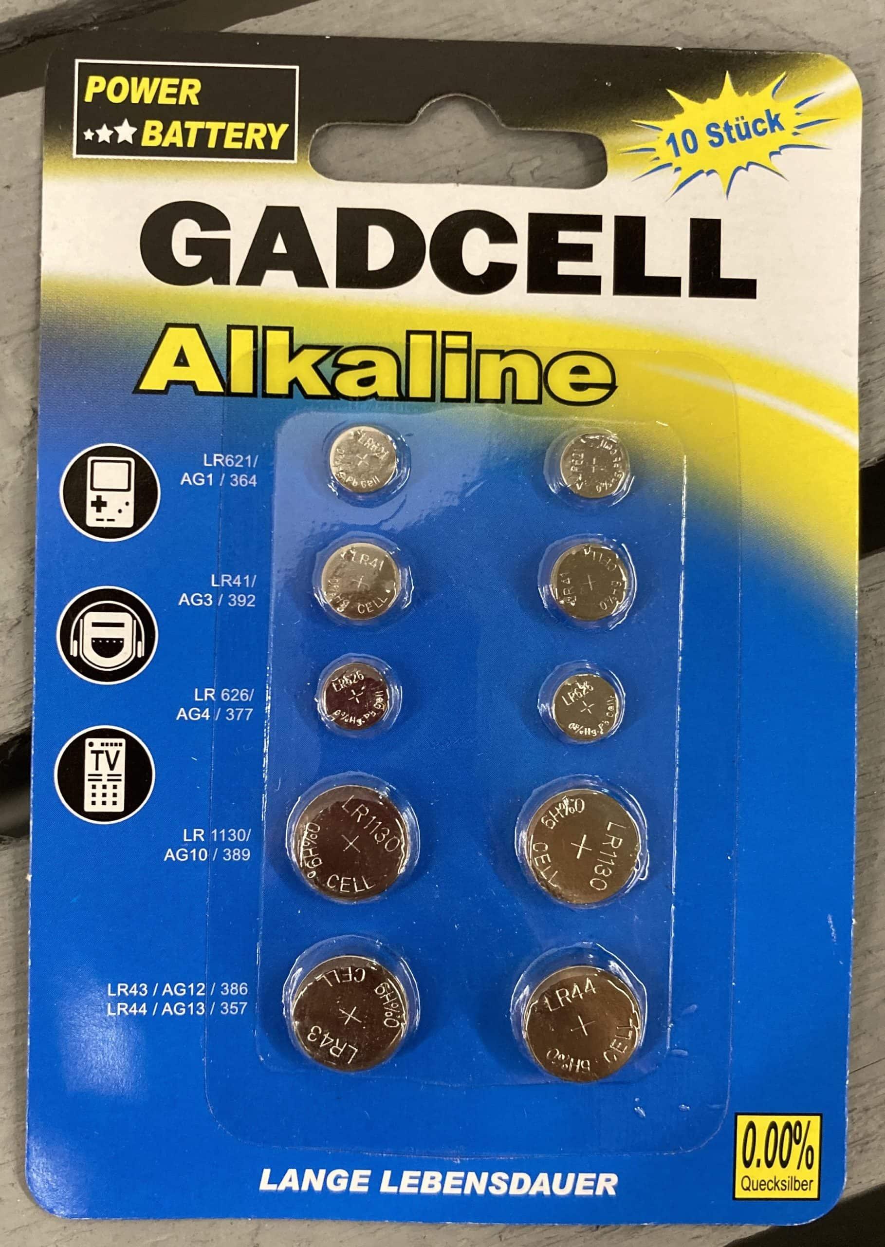 10er-Set Knopfzellen-Sortiment