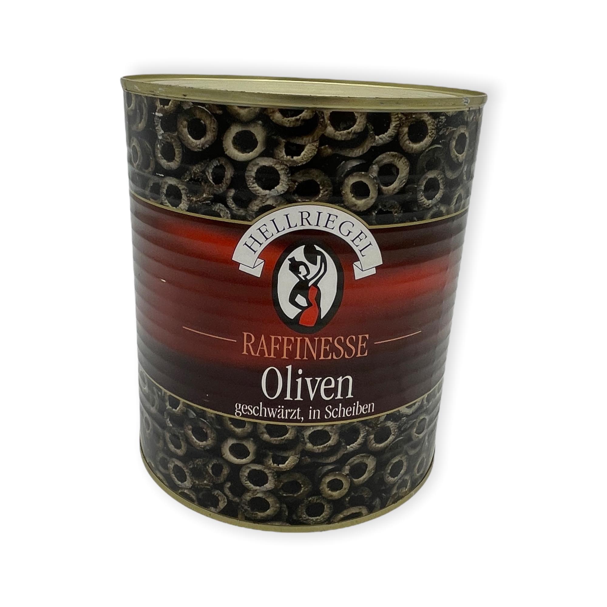 Schwarze Oliven in Scheiben 2,85 kg