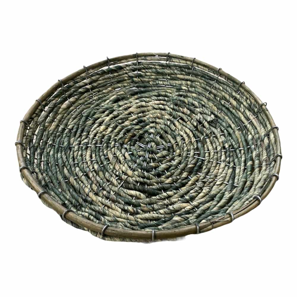 Dekoschale aus Wasserhyazinthe