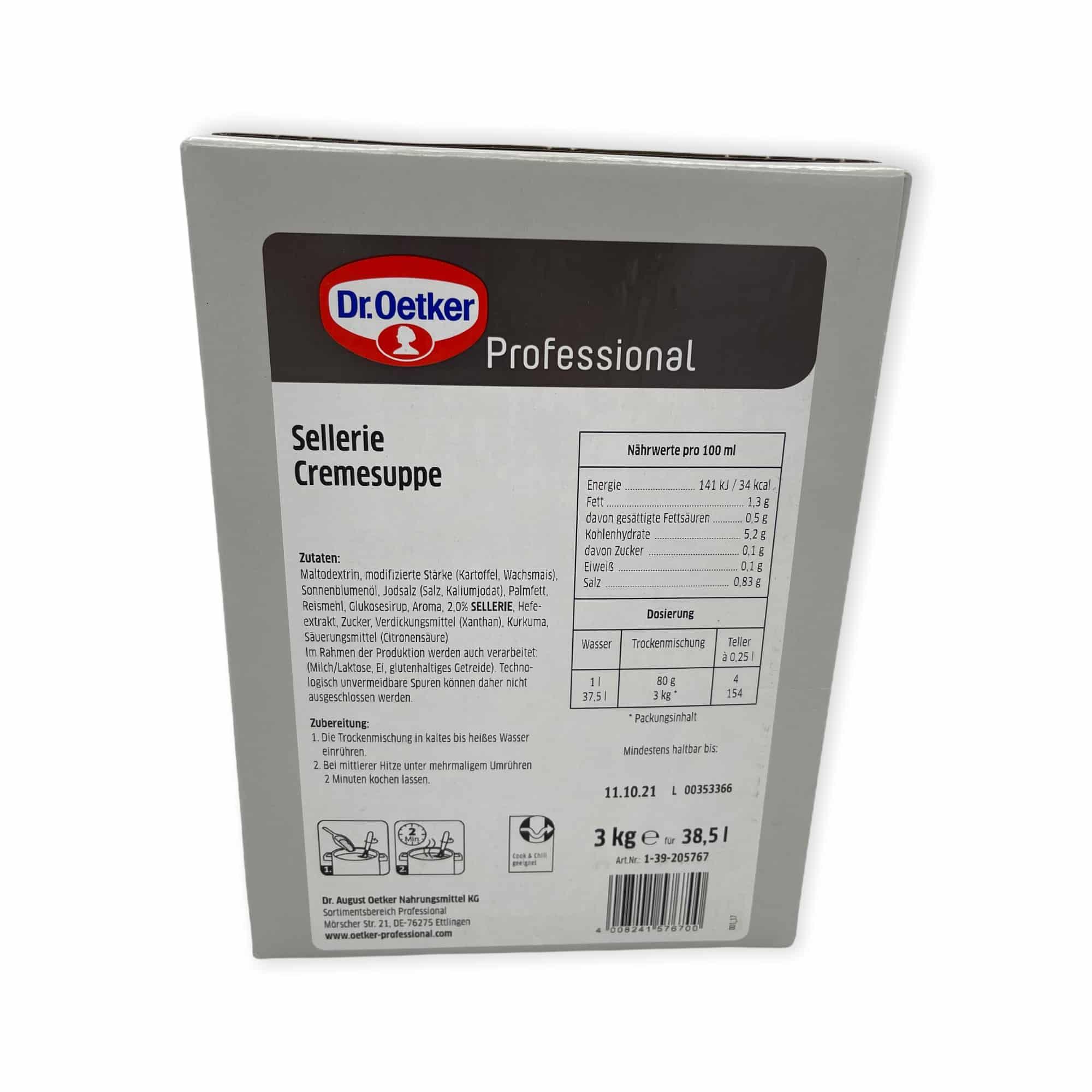 Dr. Oetker Professional Sellerie Cremesuppe 3 kg