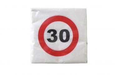 """20er-Pack Servietten Jubiläum """"30"""""""