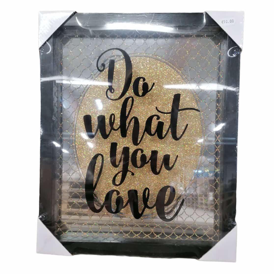 """Spiegelbild """"Do what you love"""""""