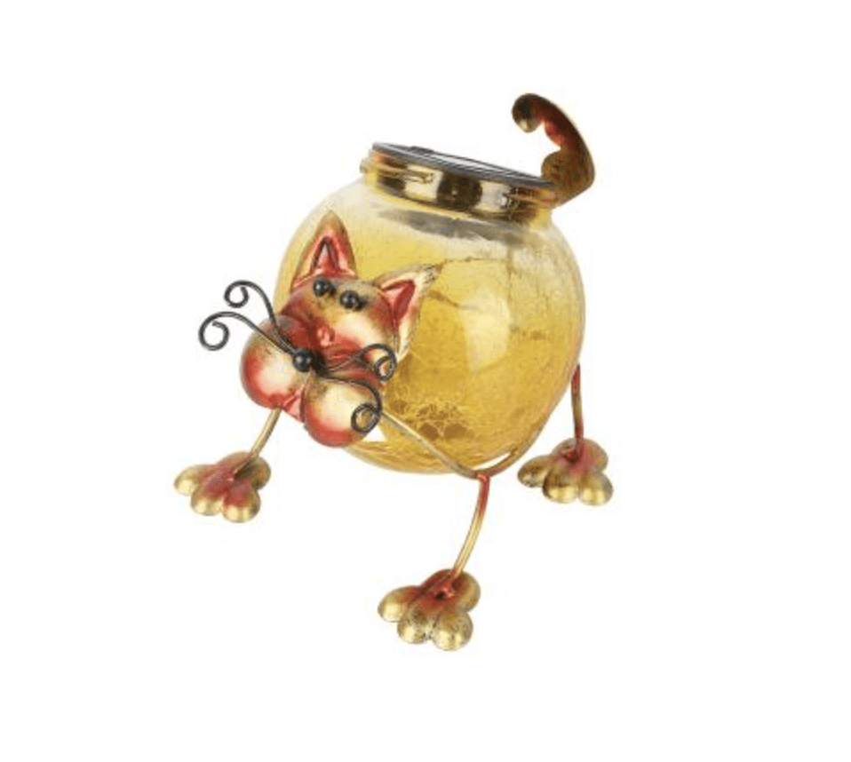 LED-Solarfigur Katze