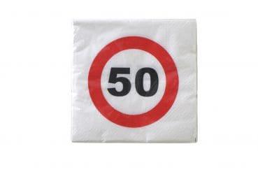 """20er-Pack Servietten Jubiläum """"50"""""""