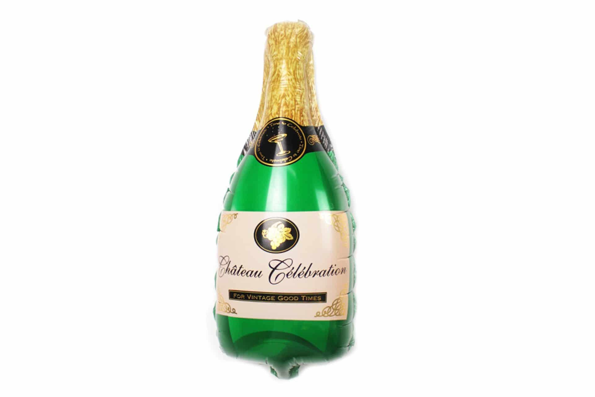 "Folienballon mit Stick ""Champagner"""