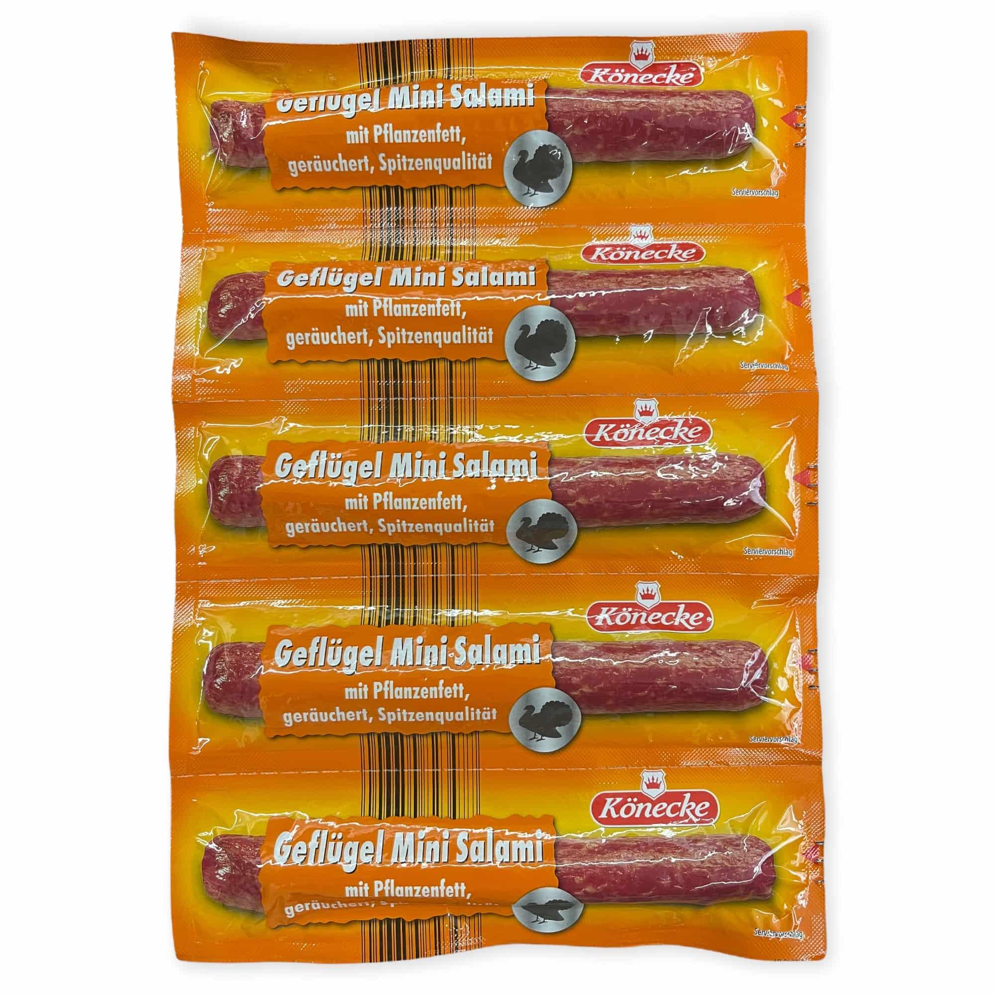 5er Pack Geflügel-Salami 5x25 g